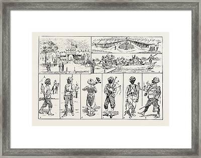 Sketches At The Rawul Pindi Durbar, 1885. 1. Entrance Framed Print