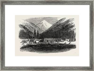 Sketches From British Columbia Indian Village Framed Print