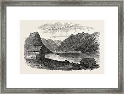 Sketches From British Columbia Port Anderson Framed Print