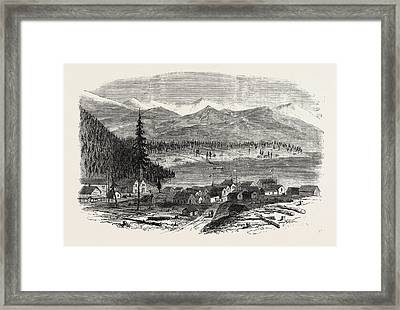 Sketches From British Columbia The Town Of Douglas Framed Print