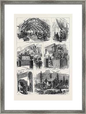 Sketches In The International Exhibition 1871 Framed Print