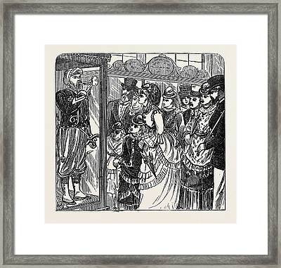 Sketches In The International Exhibition The Automaton Framed Print by English School