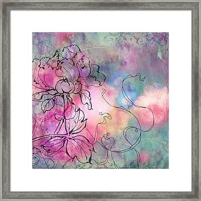 Sketchflowers - Dahlia Framed Print by Aimee Stewart