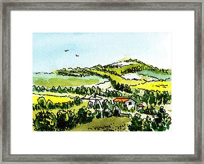 Sketching Italy From Florence To Rome Framed Print
