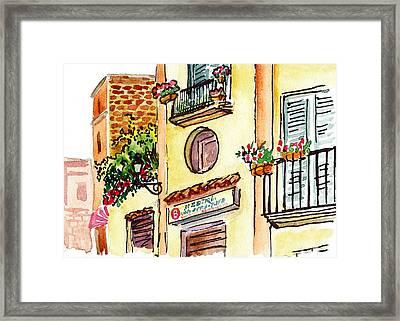 Sketching Italy Streets Of Sorrento Framed Print by Irina Sztukowski