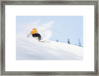 Sketchy Landing Framed Print