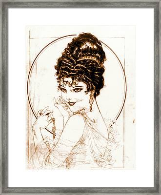 Sketchy Look 1919 Framed Print by Padre Art