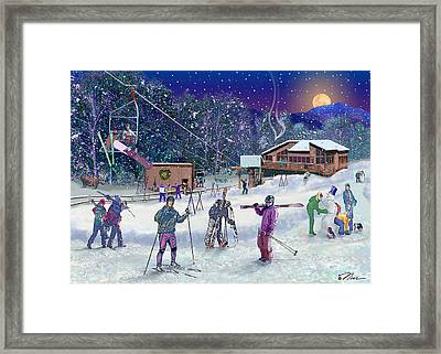 Ski Area Campton Mountain Framed Print