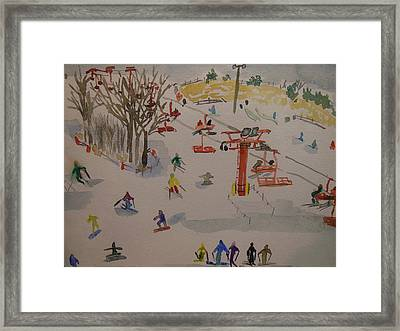 Ski Area Framed Print by Rodger Ellingson