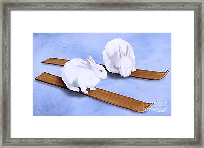 Ski Bunnies... Framed Print by Will Bullas