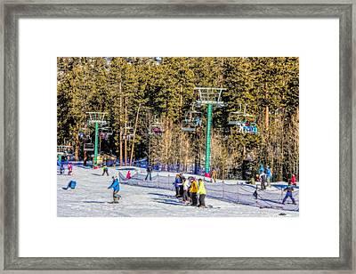 Ski Day Framed Print by Tammy Espino