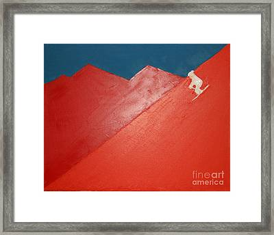 Framed Print featuring the painting Ski Deer Valley Park City by Richard W Linford