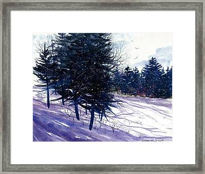 Ski Hill Framed Print