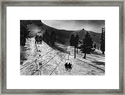 Ski Lifts At Squaw Valley In California Framed Print by Underwood Archives