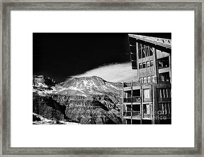 Ski Lodge In The Andes Framed Print by John Rizzuto