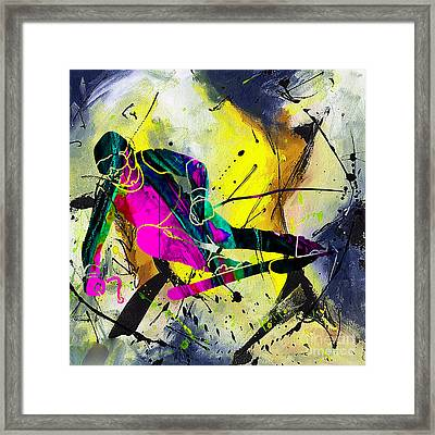 Ski Framed Print by Marvin Blaine