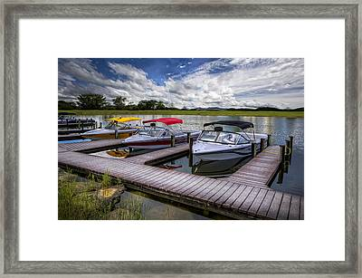 Ski Nautique Framed Print by Debra and Dave Vanderlaan