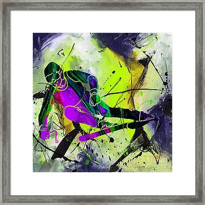 Ski Painting Framed Print