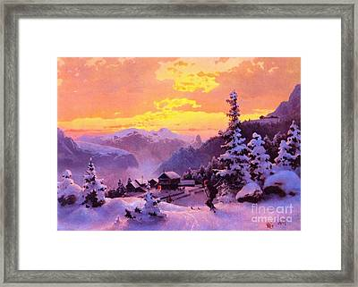 Ski Framed Print by Pg Reproductions