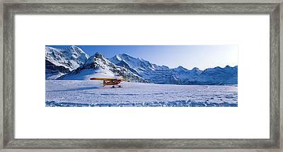 Ski Plane Mannlichen Switzerland Framed Print by Panoramic Images