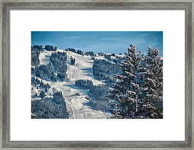 Ski Run Framed Print