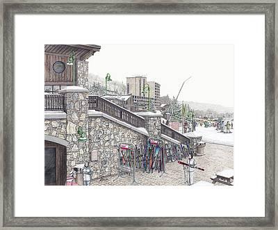 Ski School At Seven Springs Mountain Resort Framed Print by Albert Puskaric