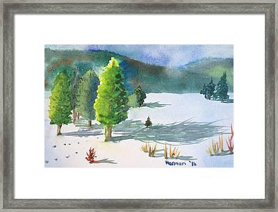 Ski Season Framed Print