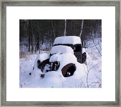 Ski Towtruck Framed Print by Polly Anna