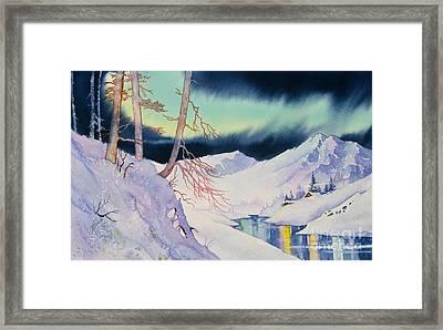 Ski Trail Framed Print by Teresa Ascone