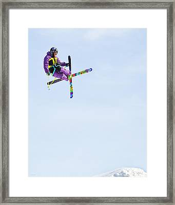 Ski X Framed Print by Theresa Tahara