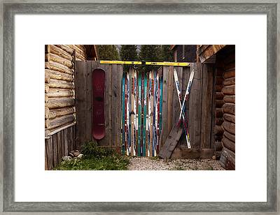 Ski'd Up Framed Print by Lori Knisely