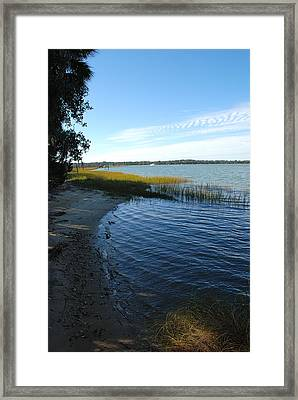 Skidaway River Framed Print by Kathy Gibbons