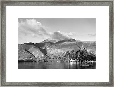 Skiddaw And Friars Crag Mountainscape Framed Print