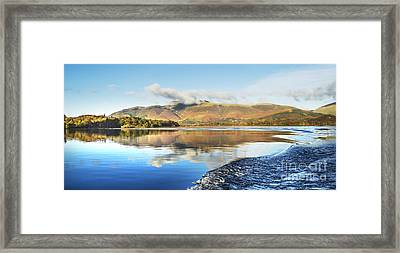 Skiddaw Reflections 2 Framed Print by Linsey Williams