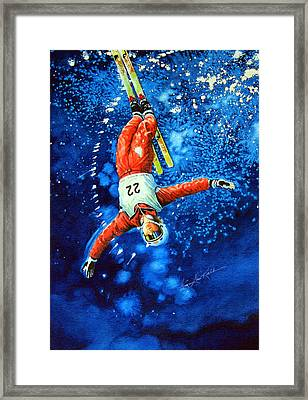 Skier Iphone Case Framed Print