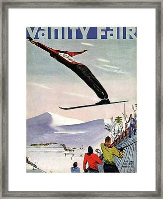 Ski Jump On Vanity Fair Cover Framed Print by Deyneka