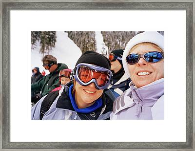 Skiers Framed Print by Martin Riedl/science Photo Library