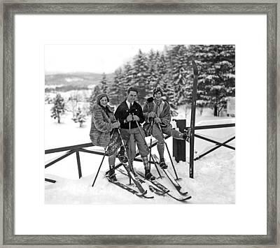 Skiers Takes A Break Framed Print