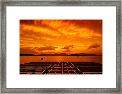 Skies Ablaze - One Framed Print