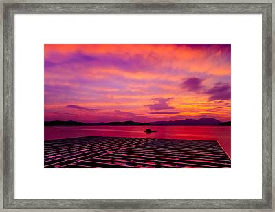 Skies Ablaze - Two Framed Print