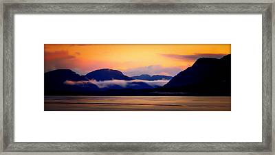 Skies Of Silk Framed Print by Karen Wiles