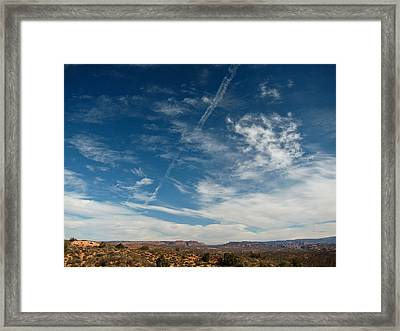 Skies The Limit Framed Print