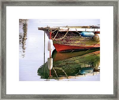 Skiff Reflections Framed Print