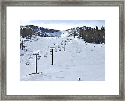Skiing Mammoth Framed Print