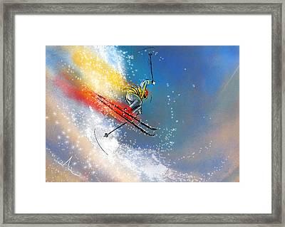 Skijumping 01 Framed Print