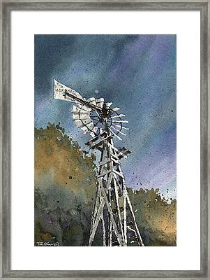 Skillet Ranch Mill Framed Print by Tim Oliver
