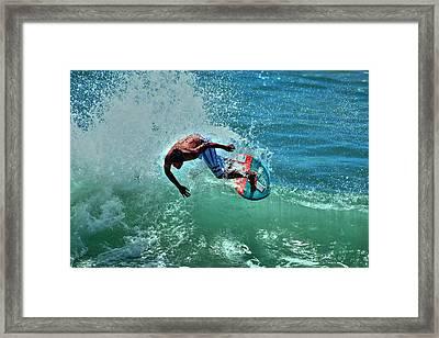Skimboarder  Framed Print by Richard Cheski