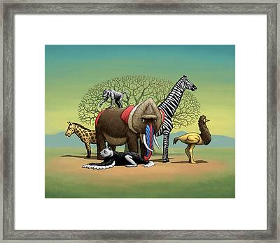 Strange Safari Framed Print