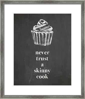 Skinny Cook Framed Print by Nancy Ingersoll