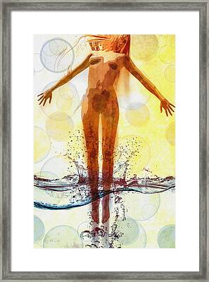 Skinny Dipping Framed Print by Bob Orsillo
